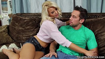 Naughty America Anikka Albrite fucking in the couch with her average body thumbnail