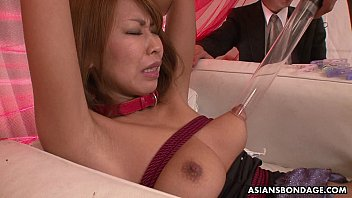 Asian babe toy  stimulated and pussy vibed pussy vibed