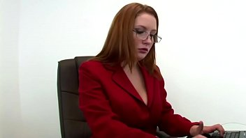 Rebecca, taken by the desire to fuck, seduces one of her employees thumbnail