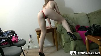 Sexy solo girl in things is dancing