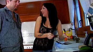 Housewife Gives A Hot Blow Job In The Kitchen