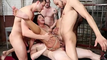 Kink Present Gangbang - Fucked by 5 Blacks by the ASS - COMPLETE VIDEO ON PORNOHOTT.COM