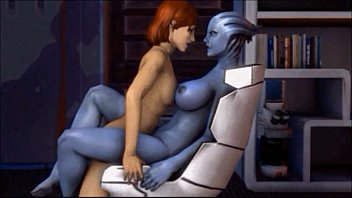 Girls en masse pissing - Mass effect meets blue is the only colour