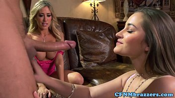 Bigtitted lezzies cumswapping on ffm