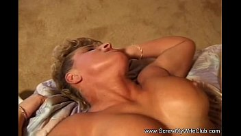 Man watching wife have sex Seductive blonde woman on the resort