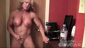 Mature nude asuan woman Mature female bodybuilder poses and masturbates