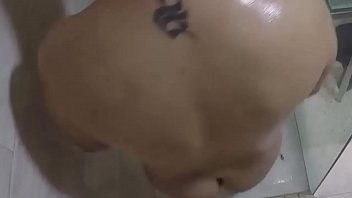 Fucking hard with the fat girl in the shower. SAN233