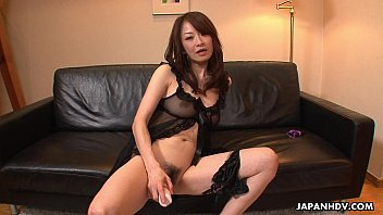 Hot and arousing Asian milf toy fucking her wet muff