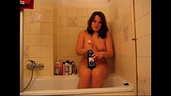Bbw bottles Chubby girl playing with bottle