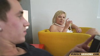 The Chubby Grandma Seduces The Young Guy