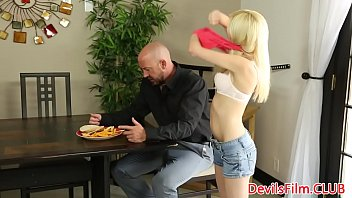 Petite babysitter teen pounded by older guy