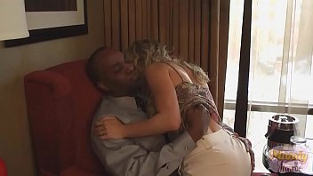 Interracial Loving Petite Blonde Gets Creampie From Large Black Cock 5 min
