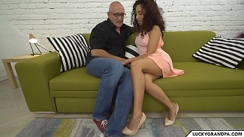 Grandpa fucks tiny latina