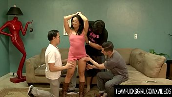 Team Fucks Girl - Oriental Cougar Lucky Starr Takes on Three Younger Cocks [럭키가이 lucky guy]