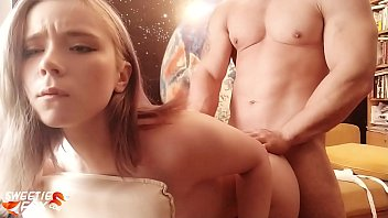 8555 Babe Blowjob Dick Muscular Guy and Hardcore Sex after Reading preview
