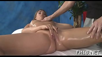 Those 18 year old girls get drilled hard by their massage therapist! 5 min
