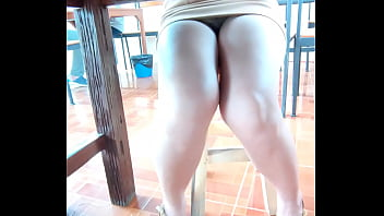 Secretly taking pictures under the skirt of a Thai office girl