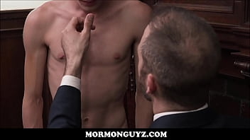 Young Blonde Mormon Boy Has Slim Athletic Body Examined And Has Sex With President Lewis