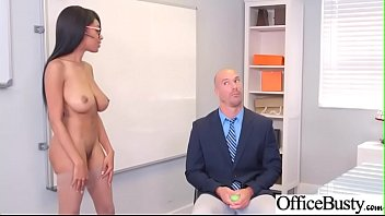 (Brittney White) Office Girl With Round Big Boobs Enjoy Hard Sex movie-08