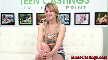 Teen beauty hardfucked at brutal casting