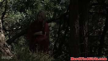 Roughly bound blonde teen toyed relentlessly