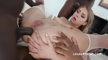 Interracial XXXtreme anal gangbang leaves Julia Red's asshole destroyed