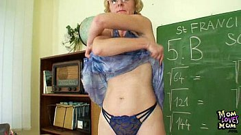 Flatchested glasses fingers pussy - Milf teacher nasty fingering after having a class