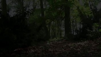 Blonde gushes piss while in the woods 96 sec