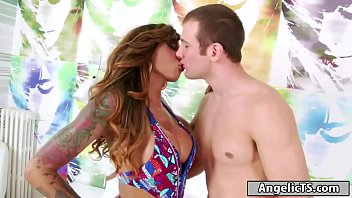 Busty big cock Tgirl Ariadny Oliver anals guy and anal rides