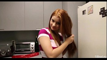young girl sucks and fucks in the kitchen