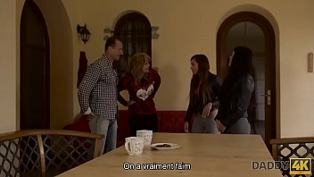 DADDY4K. Two Mom Daughters Get Naughty With Their Property 10 min