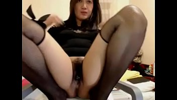 Hot on on chair showing hairy pussy