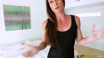 My horny MILF stepmother loves to be fucked from behind