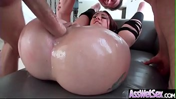 (Mandy Muse) Horny Girl With Big Oiled Ass Get It Hard In Her Behind clip-27