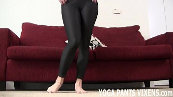 These tight yoga pants really show off my round ass JOI
