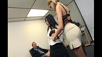 Catfight porn videos - Catfight turns to secretary office threesome