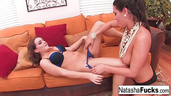 Natasha and Charley not only show off those amazing natural tits