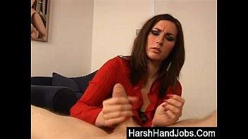 Paige Turnah gives a harsh handjob preview image