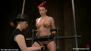 Redhead In Device Bondage Whipped