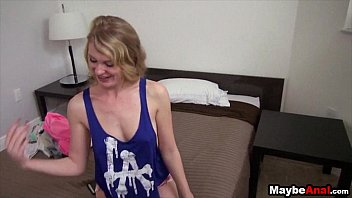Slutty Blonde fucked in the ass at home Ali Rae 1 2