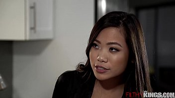 Slutty Asian Step Sister Vina Sky Seduces Horny Step-Bro in Kitchen - 69VClub.Com