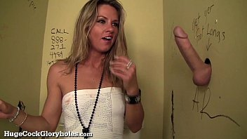 Xtube public bathroom glory hole activity Hot slut blows stranger in public bathroom