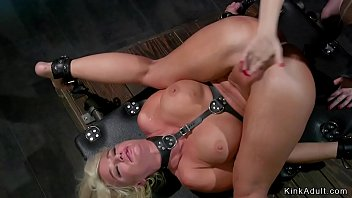 Whipped by a lesbian - Huge tits lesbian milf whipped in lezdom