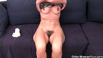 Hairy granny galeries - French granny emanuelle loves cleaning and masturbating