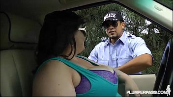 Plush fat sex doll Big tit bbw bille austin is pulled over and fucked by cop