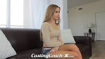 Casting Couch-X Exotic Cali girl nervous fucked doing porn