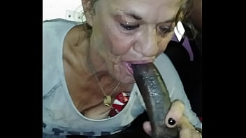 Ugly bitch swallow huge nut