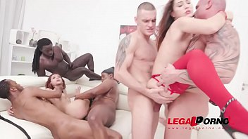 Veronica Leal dominates Mina before hot anal orgy with 5 guys SZ2360