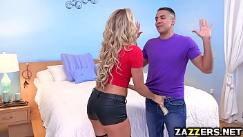 Nikki Capone sucking on the babysitters big thick cock