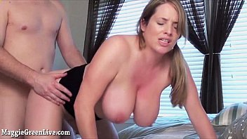 Natural tit blowjobs - Busty maggie green receives facial after bj